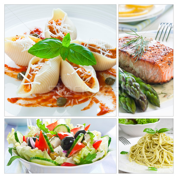 Mediterranean Food Collage Stock photo © rafalstachura