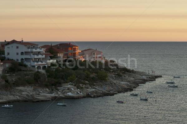 日没 半島 クロアチア 表示 住宅 空 ストックフォト © rafalstachura