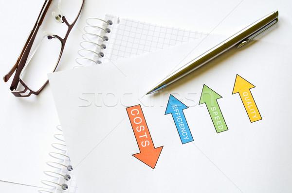 Economico analisi qualità velocità efficienza diagramma Foto d'archivio © rafalstachura