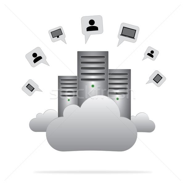 Connectivité serveurs nuage technologie serveur Photo stock © rafalstachura
