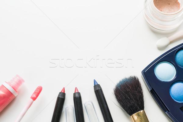 Make ingesteld witte exemplaar ruimte achtergrond schoonheid Stockfoto © rafalstachura