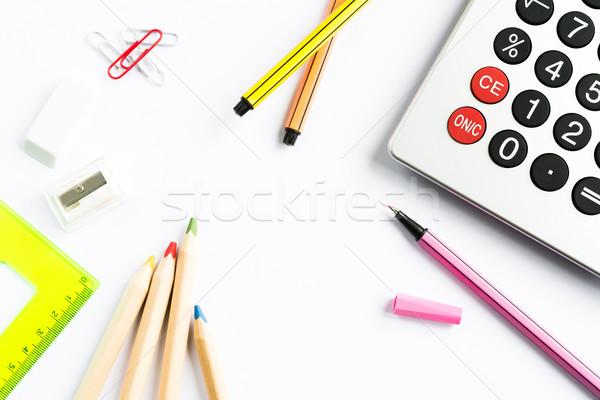 école bureau papeterie simulateur blanche Photo stock © rafalstachura