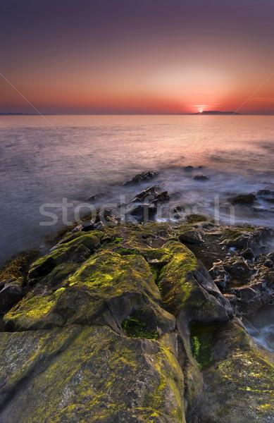 Sunrise Irlande irlandais longue exposition coucher du soleil nature Photo stock © rafalstachura