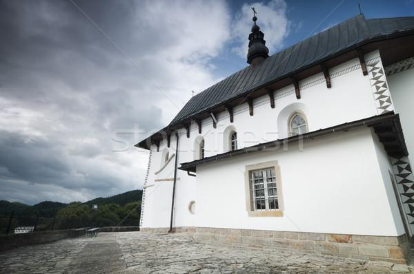 Iglesia rural Polonia pequeño católico edificio Foto stock © rafalstachura