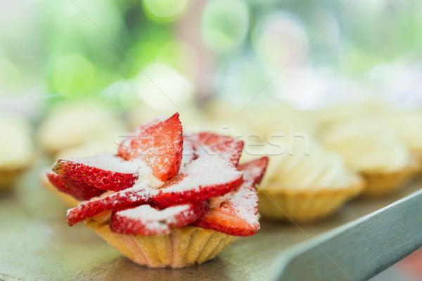 Strawberry Pie Tart Closeup Stock photo © rafalstachura