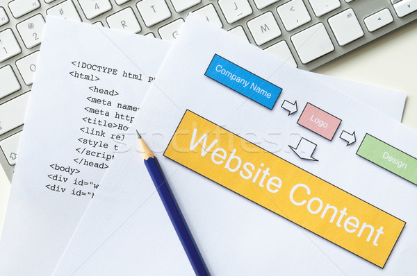 Website planning web design project diagram html Stockfoto © rafalstachura