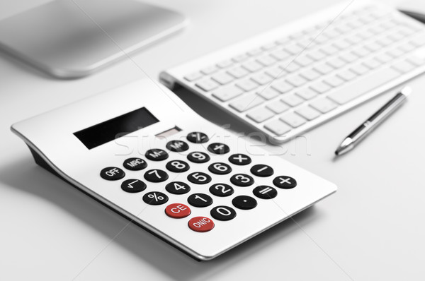 Escritório secretária calculadora bola Foto stock © rafalstachura