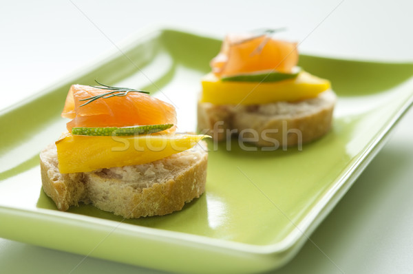 Salmon Appetizer Stock photo © rafalstachura