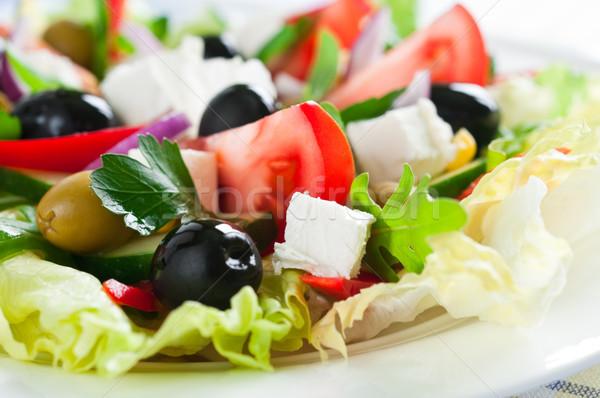 Fraîches salade tomate concombre Photo stock © rafalstachura