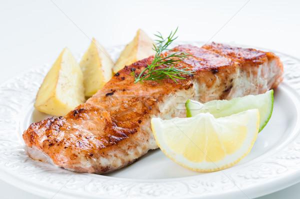 Salmon with Potatoes and Dill Stock photo © rafalstachura