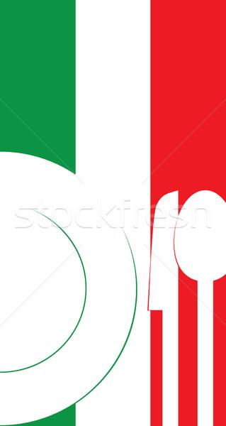 Ristorante menu ristorante italiano carta modello alimentare Foto d'archivio © rafalstachura