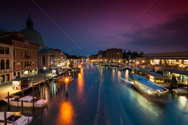 Venecia la exposición a largo tiro cielo ciudad Foto stock © rafalstachura