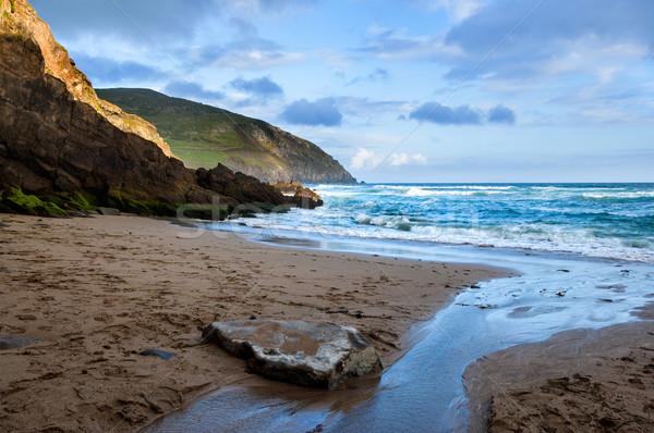 頭 半島 海岸線 アイルランド ビーチ 夏 ストックフォト © rafalstachura