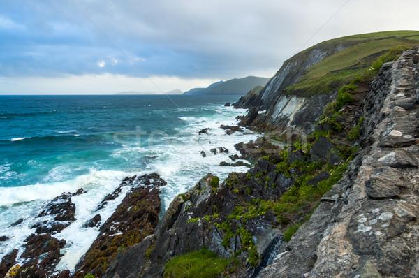 голову полуостров Ирландия пляж стены Сток-фото © rafalstachura
