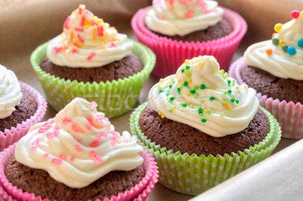 Colourful Chocolate Cupcakes Stock photo © rafalstachura