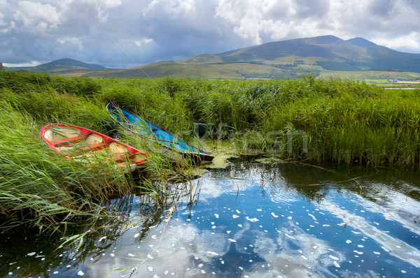 Fishing boats in a lake in County Kerry, Ireland Stock photo © rafalstachura