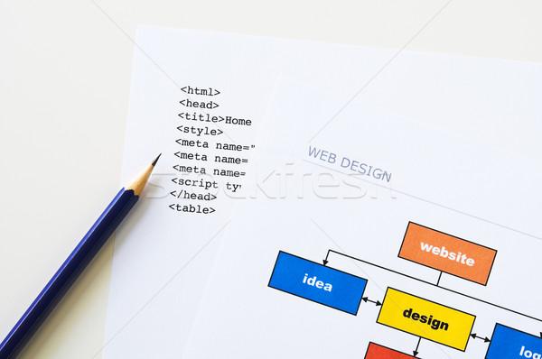 Sito pianificazione web design progetto diagramma html Foto d'archivio © rafalstachura