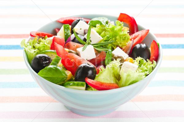 Grec salade fraîches tomate olives Photo stock © rafalstachura