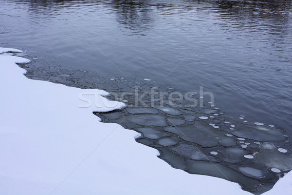 Ince buz taze kar Stok fotoğraf © ralanscott