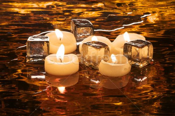 火災 氷 休日 スタイル 写真 キャンドル ストックフォト © ralanscott