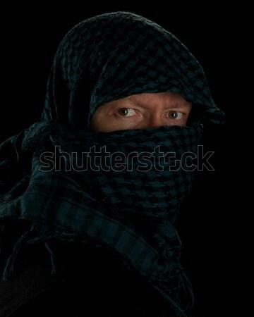 Yeşil siyah adam model Arap Stok fotoğraf © ralanscott