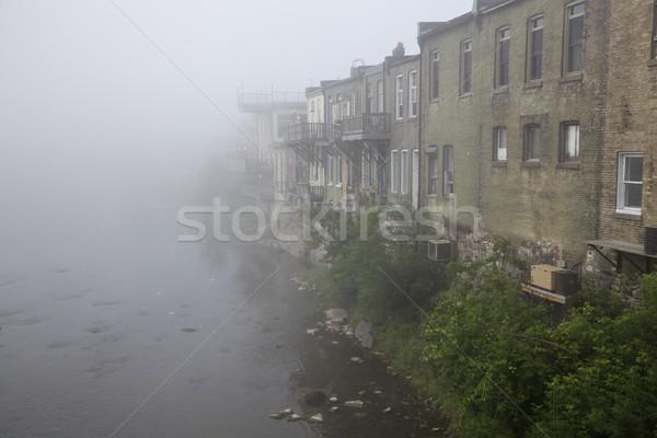 Paris brouillard matin rivière brouillard Photo stock © ralanscott
