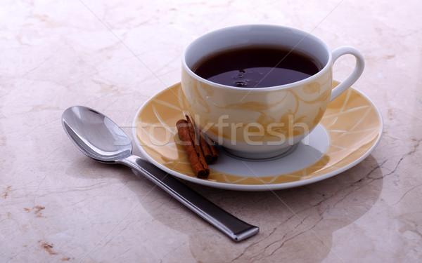 Matin thé cannelle servi fenêtre lumière Photo stock © ralanscott