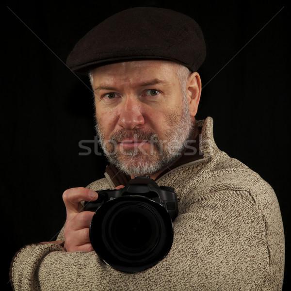 Fotoğrafçı atış kamera kol Stok fotoğraf © ralanscott