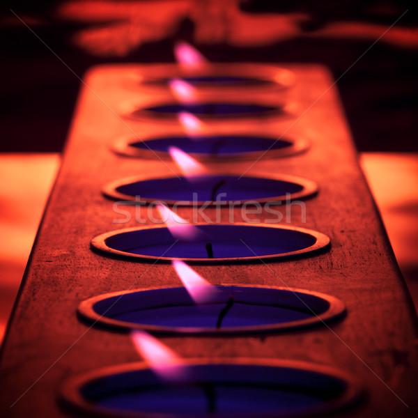 Purple пламени Бар глубокий Blues горячей Сток-фото © ralanscott