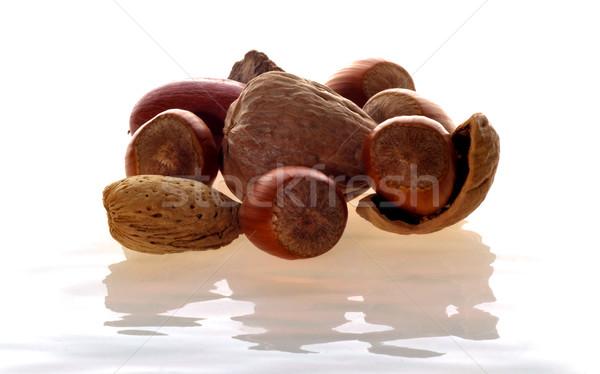ナッツ 混合した ミルキー 表面 ストックフォト © ralanscott