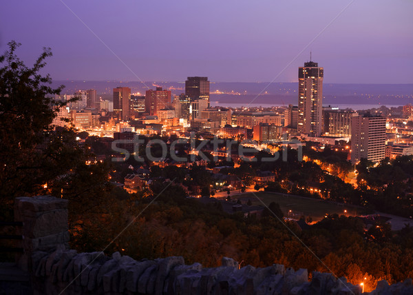 Stock photo: Smoggy skyline of Hamilton, Ontario at dawn