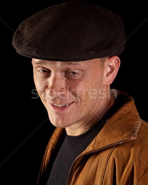 Gülen adam portre alkol Stok fotoğraf © ralanscott