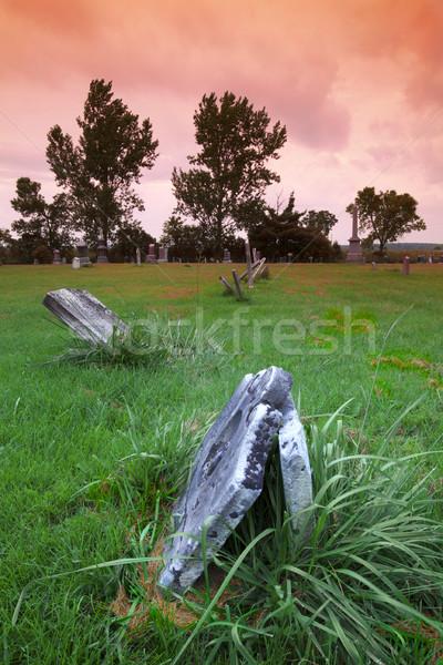 墓地 ほこり 墓 と 思い出 ストックフォト © ralanscott