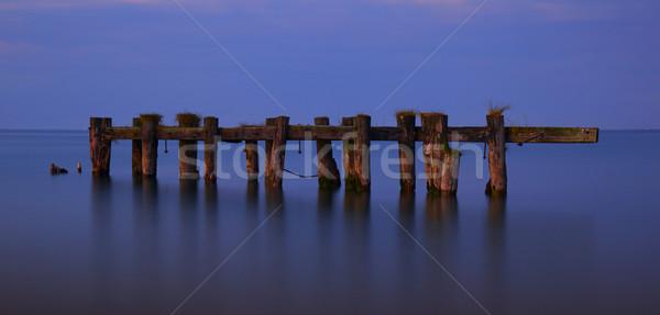 スタンド だけ 桟橋 光 ストックフォト © ralanscott