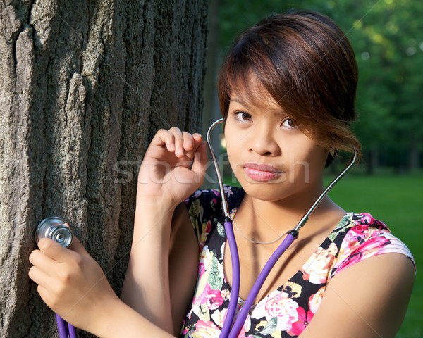Tree Hugger with Stethoscope Stock photo © ralanscott
