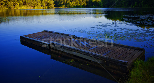 Lonely dock on quiet lake Stock photo © ralanscott