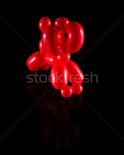 Red Balloon Poodle Stock photo © ralanscott