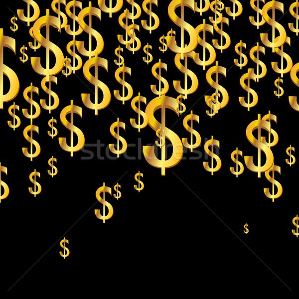 вектора долларов металл знак рынке Сток-фото © RamonaKaulitzki