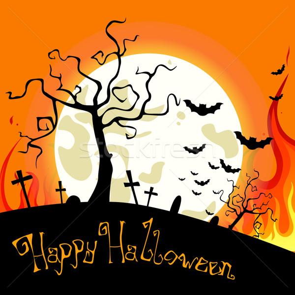Stock photo: Vector Halloween Background