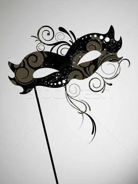 Wektora karnawałowe maska strony piękna Zdjęcia stock © RamonaKaulitzki