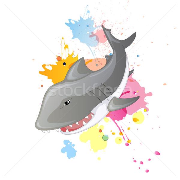 Vector tiburón Cartoon océano juguete subacuático Foto stock © RamonaKaulitzki