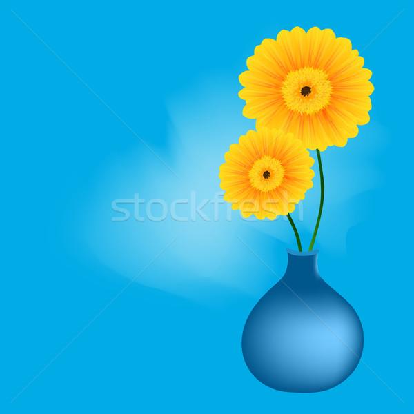 печать весенние цветы цветок саду лет голову Сток-фото © RamonaKaulitzki
