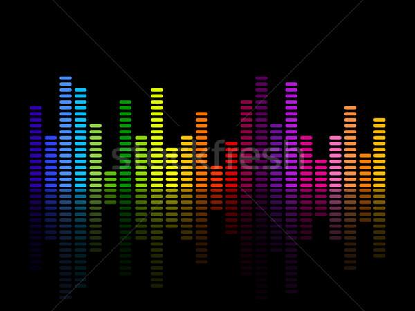 Foto stock: Vetor · música · equalizador · abstrato · luz · fundo