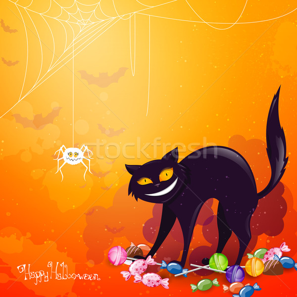 вектора Хэллоуин кошки облака фон искусства Сток-фото © RamonaKaulitzki
