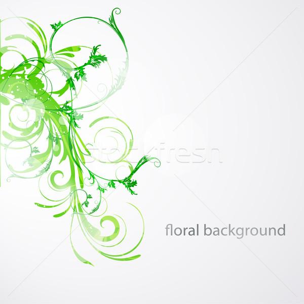 フローラル ベクトル 背景 美 にログイン レトロな ストックフォト © RamonaKaulitzki