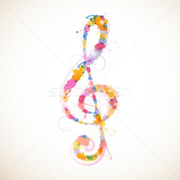 Vetor abstrato colorido concerto papel de parede soar Foto stock © RamonaKaulitzki