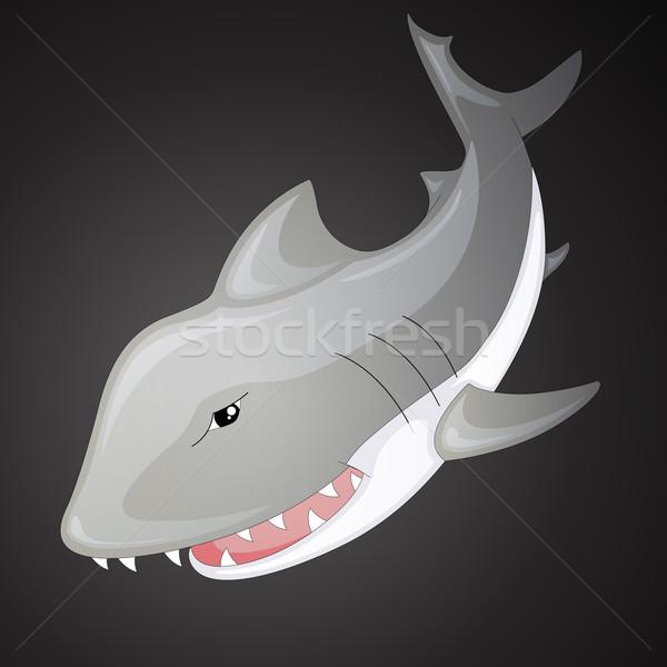 вектора акула Cartoon океана игрушку подводного Сток-фото © RamonaKaulitzki