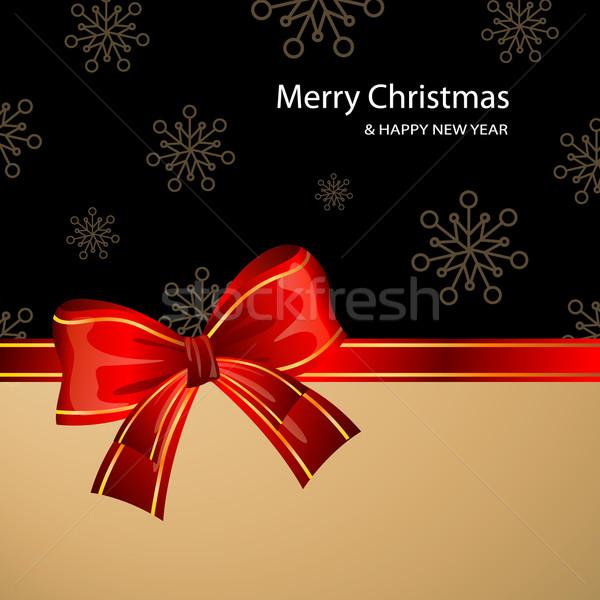Vektör Noel dekoratif arka plan hediye sunmak Stok fotoğraf © RamonaKaulitzki
