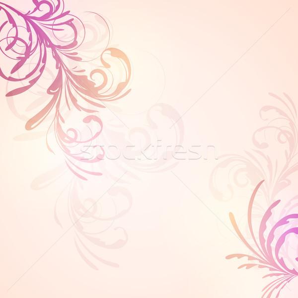 Soyut vektör dizayn çiçek gökkuşağı Stok fotoğraf © RamonaKaulitzki