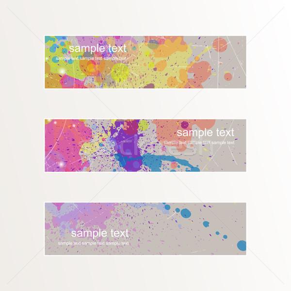 вектора Баннеры аннотация дизайна краской пространстве Сток-фото © RamonaKaulitzki